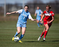 Kealia Ohai. The Washington Spirit defeated the North Carolina Tar Heels in a preseason exhibition, 2-0, at the Maryland SoccerPlex in Boyds, MD.