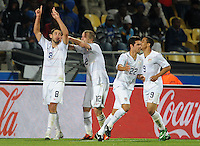 Clint Dempsey of USA celebrates scoring his side's third goal. USA defeated Egypt 3-0 during the FIFA Confederations Cup at Royal Bafokeng Stadium in Rustenberg, South Africa on June 21, 2009..