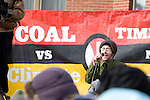 Organizer Joshua Kahn Russel speaks to the crowd at the Capitol Coal Action in Washington, D.C. - ©Robert vanWaarden ALL RIGHTS RESERVED
