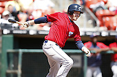 May 23, 2009:  Jordan Brown of the Columbus Clippers, International League Triple-A affiliate of the Cleveland Indians, during a game at Coca-Cola Field in Buffalo, NY.  Photo by:  Mike Janes/Four Seam Images