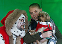 """18/12/16<br /> <br /> Yorkshire Terrier, Billy and owner Keeleyanne Ford-Johnson meet Santa Paws.<br /> <br /> Close to 800 dogs, many of them dressed up in festive garb, have visited their very own Santa Paws in a special dog-only Christmas grotto held in Sherwood Forest in Nottinghamshire this weekend.<br /> The two-day event, which was organised by park rangers working for Nottinghamshire County Council, has been running for three years.<br /> Ranger Graeme Turner, who originally came up with the idea for a doggy-themed Santa's Grotto said this year has been the best so far.<br /> """"The queue is huge, it snakes back all the way round the visitor's centre,"""" he said. """"All the dogs are being very well behaved, I guess they don't want to get onto Santa Paw's naughty list this close to Christmas!""""<br /> All canine visitors to the grotto got a special doggy bag full of treats and money raised from the event will go to Jerry Green Dog Rescue charity.<br /> <br /> All Rights Reserved F Stop Press Ltd. (0)1773 550665   www.fstoppress.com"""