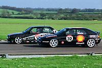Round 2 of the 1992 British Touring Car Championship. #32 Patrick Watts (GBR). Shell Mazda Racing. Mazda 323F. #12 Matt Neal (GBR). Rimstock Racing. BMW M3.