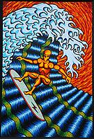 July,27, 2021. Vista. CA. USA.| Surfer 5, Artist J. Scott Lytle. 4'X6'. Acrylic on board  | Jamie Scott Lytle. Copyright.