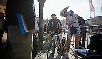 3 Days of De Panne.stage 3b: De Panne-De Panne TT..Tosh Van der Sande (BEL) in the startzone..