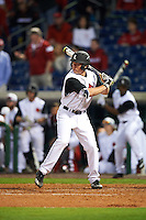 Louisville Cardinals designated hitter Jake Snider (20) at bat during a game against the Maryland Terrapins on February 18, 2017 at Spectrum Field in Clearwater, Florida.  Louisville defeated Maryland 10-7.  (Mike Janes/Four Seam Images)