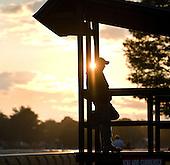 Clocker's stand at sunrise.