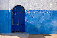Afrique/Afrique du Nord/Maroc/Rabat: dans les ruelles de la kasbah des Oudaïas -détail mur et porte