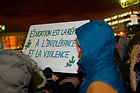 Vigile le 30 janvier 2017, apres la tuerie de la mosquee de Quebec.<br /> <br /> PHOTO : Agence Quebec presse