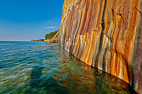 Mineral painted cliffs landscape, Pictured Rocks National Lakeshore