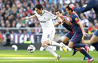 MADRI, ESPANHA, 02 MARÇO 2013 - CAMPEONATO ESPANHOL - REAL MADRID X BARCELONA - Kaka (E) jogador do Real Madrid durante partida contra o Barcelona em partida pela 26 rodada do Campeonato Espanhol, neste sabado, 02. (FOTO: ALEX CID-FUENTES / ALFAQUI / BRAZIL PHOTO PRESS).