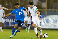 SAN SALVADOR, EL SALVADOR - SEPTEMBER 2: Gio Reyna #7 of the United States moves passes the ball during a game between El Salvador and USMNT at Estadio Cuscatlán on September 2, 2021 in San Salvador, El Salvador.