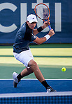 Alejandro Gonzalez (COL) falls to Bernard Tomic (AUS) 6-3, 6-2 at the Citi Open in Washington, DC on July 28, 2014.