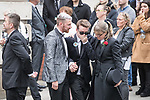 © Joel Goodman - 07973 332324 . 30/06/2017 . Stockport , UK . Mourners leave the Town Hall after the service . The funeral of Martyn Hett at Stockport Town Hall . Martyn Hett was 29 years old when he was one of 22 people killed on 22 May 2017 in a murderous terrorist bombing committed by Salman Abedi, after an Ariana Grande concert at the Manchester Arena . Photo credit : Joel Goodman