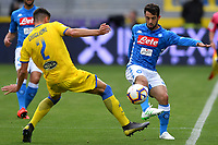 Paolo Ghiglione of Frosinone and Amin Younes of Napoli compete for the ball during the Serie A 2018/2019 football match between Frosinone and SSC Napoli at stadio Benito Stirpe, Frosinone, April 28, 2019 <br /> Photo Andrea Staccioli / Insidefoto