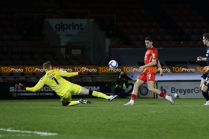 O's Connor Wilkinson scores O's 2nd during Leyton Orient vs Southend United, Sky Bet EFL League 2 Football at The Breyer Group Stadium on 29th December 2020