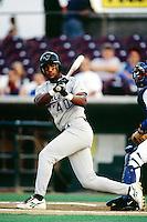 Hippolito Martinez of the Visalia Oaks during a California League baseball game circa 1999. (Larry Goren/Four Seam Images)