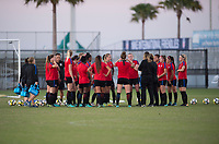 Lakewood Ranch, FL - December 6, 2017: The U20 USWNT trains in preparation for the Nike International Friendlies at Premier Sports Campus.
