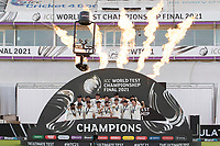 New Zealand, Champions and Winners of the World Test Championship Final during India vs New Zealand, ICC World Test Championship Final Cricket at The Hampshire Bowl on 23rd June 2021