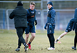 St Johnstone Training…25.02.18<br />George Williams pictured talking with Callum Davidson during training at McDiarmid Park ahead of the Rangers game<br />Picture by Graeme Hart.<br />Copyright Perthshire Picture Agency<br />Tel: 01738 623350  Mobile: 07990 594431