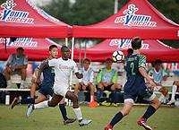 Frisco, Texas - Thursday, July 26, 2018: 2018 US Youth Soccer National Championships. 17U Boys Santa Barbara Soccer Club (CA-S) vs Oklahoma Energy FC 01 Central