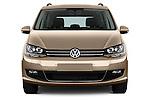 Car photography straight front view of a 2016 Volkswagen Sharan Confortline 5 Door Minivan Front View