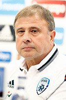 Israel's coach Elisha Levy in press conference after training session. March 23,2017.(ALTERPHOTOS/Acero) /NortePhoto.com