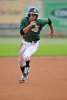 Jack Reinheimer #29 of the Clinton LumberKings runs toward third base against the Kane County Cougars at Ashford University Field on July 6, 2014 in Clinton, Iowa. The LumberKings won 1-0.   (Dennis Hubbard/Four Seam Images)