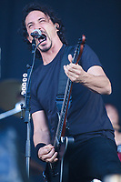 Gojira performs at the Festival d'ete de Quebec in Quebec city Sunday July 17, 2016.