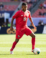 CLEVELAND, OH - JUNE 22: Alberto Quintero #19 during a game between Panama and Guyana at FirstEnergy Stadium on June 22, 2019 in Cleveland, Ohio.