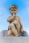 Angel Boy Statue near the Notre-Dame de la Garde in Marseilles, France