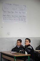 Serbia. Veliki Trnovac (in Albanian: Tërnoc i Madh) is a town in the municipality of Bujanovac, located in the Pčinja District of southern Serbia. «Muharrem Kadriu» Elementary School. The school's students are all from Albanian ethnicity. Classroom. 6th Grade. Two boys listen to their teacher during an History class. Bujanovac is located in the geographical area known as Preševo Valley. The Pestalozzi Children's Foundation (Stiftung Kinderdorf Pestalozzi) is advocating access to high quality education for underprivileged children. It supports in Bujanovac a project called» Our towns, our schools». 16.4.2018 © 2018 Didier Ruef for the Pestalozzi Children's Foundation