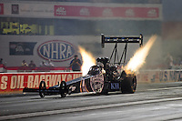 Sept. 2, 2011; Claremont, IN, USA: NHRA top fuel dragster driver Larry Dixon during qualifying for the US Nationals at Lucas Oil Raceway. Mandatory Credit: Mark J. Rebilas-