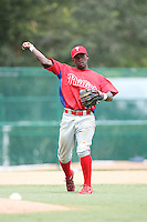 August 12, 2008: Harold Garcia of the GCL Phillies.  Photo by: Chris Proctor/Four Seam Images
