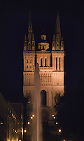 The cathedral. Angers, Loire, France