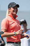 TAOYUAN, TAIWAN - OCTOBER 26:  Suzann Pettersen of Norway smiles on the 9th tee during the day two of the Sunrise LPGA Taiwan Championship at the Sunrise Golf Course on October 26, 2012 in Taoyuan, Taiwan. Photo by Victor Fraile / The Power of Sport Images