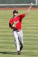 Spokane Indians pitcher Will Lamb #22 before a game against the Salem-Keizer Volcanoes at Volcanoes Stadium on August 10, 2011 in Salem-Keizer,Oregon. Salem-Keizer defeated Spokane 7-6.(Larry Goren/Four Seam Images)