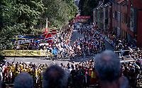 big crowds up the Wijnpersstraat<br /> <br /> Women Elite - Road Race (WC)<br /> from Antwerp to Leuven (158km)<br /> <br /> UCI Road World Championships - Flanders Belgium 2021<br /> <br /> ©kramon