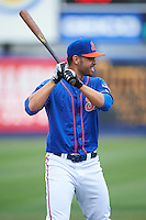 St. Lucie Mets designated hitter Wuilmer Becerra (20) during warmups before a game against the Brevard County Manatees on April 17, 2016 at Tradition Field in Port St. Lucie, Florida.  Brevard County defeated St. Lucie 13-0.  (Mike Janes/Four Seam Images)