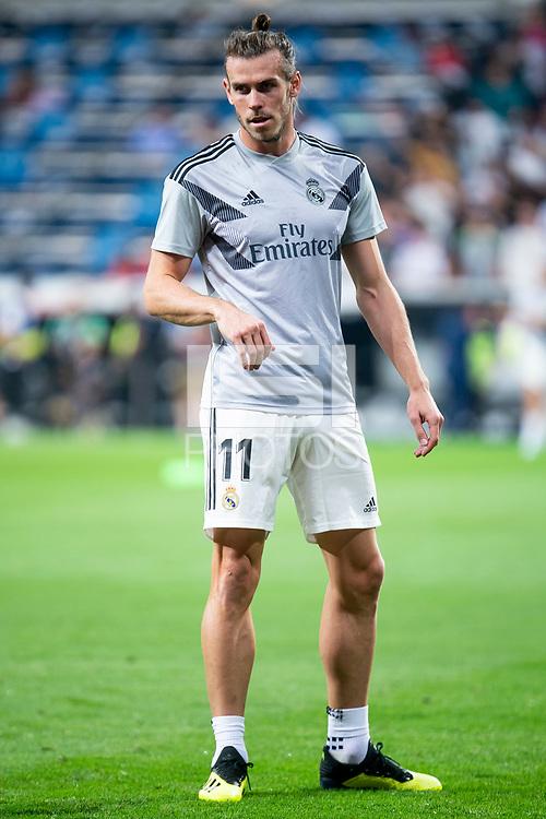 Real Madrid Gareth Bale during La Liga match between Real Madrid and Getafe CF at Santiago Bernabeu in Madrid, Spain. August 19, 2018.  *** Local Caption *** © pixathlon