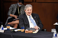 United States Senator John Neely Kennedy (Republican of Louisiana) speaks during a Senate Judiciary Committee business meeting prior to the fourth day for the confirmation hearing of President Donald Trump's Supreme Court nominee Judge Amy Coney Barrett on Thursday, October 15, 2020.<br /> Credit: Greg Nash / Pool via CNP /MediaPunch