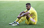 St Johnstone v Hearts…17.09.16.. McDiarmid Park  SPFL<br />Faycal Rherras gutted at full time<br />Picture by Graeme Hart.<br />Copyright Perthshire Picture Agency<br />Tel: 01738 623350  Mobile: 07990 594431