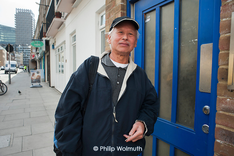 Fatling Chong has lived in Drummond Street for 19 years.  His flat lies within the Safeguarding Area immediately adjacent to the HS2 high-speed rail construction site at Euston station.  Residents in the area are demanding compensation for the 10 years of construction work on the same basis as affected residents in rural areas.
