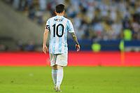 10th July 2021, Estádio do Maracanã, Rio de Janeiro, Brazil. Copa America tournament final, Argentina versus Brazil;  Lionel Messi of Argentina