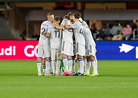 WASHINGTON, DC - MAY 13: Chicago Fire FC huddles during a game between Chicago Fire FC and D.C. United at Audi FIeld on May 13, 2021 in Washington, DC.