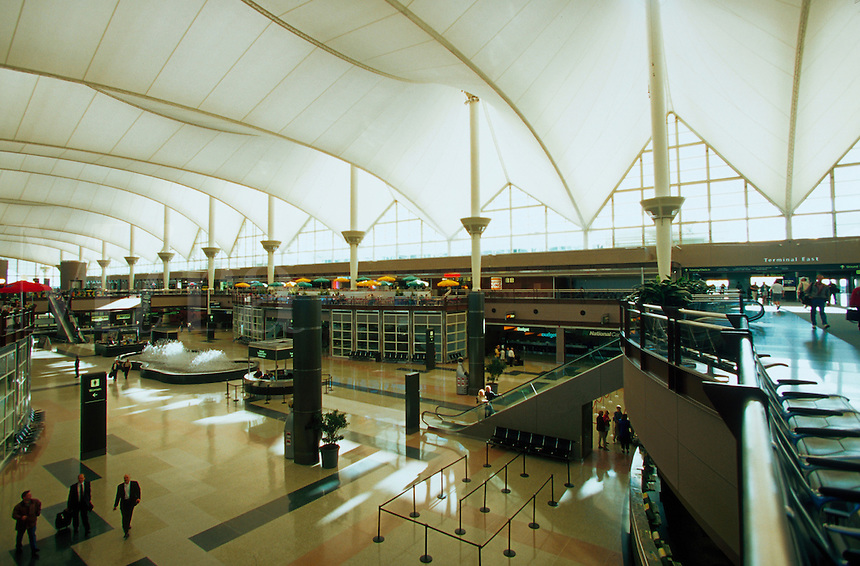 The interior of the Denver International airport. Colorado.