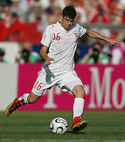 Tranquillo Barnetta of Switzerland. France and Switzerland played to a 0-0 tie in their FIFA World Cup Group G match at the Gottlieb-Daimler-Stadion, Stuttgart , Germany, on Tuesday, June 13, 2006.
