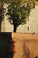 Poland, Krakow, Wawel, walls and embankment