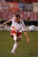 New York Red Bulls defender (33) Chris  Leitch. CD Chivas USA defeated the New York Red Bulls 2-0 in an MLS regular season match at Giants Stadium, East Rutherford, NJ, on July 26, 2007.