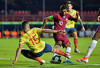 SAO PAULO – BRASIL, 19-06-2019:Mateus ribe de Colombia en acción durante partido de la Copa América Brasil 2019, grupo B, entre Colombia y Catar jugado en el Estadio Morumbí de Sao Paulo, Brasil. / Mateus Uribe of Colombia in action during the Copa America Brazil 2019 group B match between Colombia and Qatar played at Morumbi stadium in Sao Paulo, Brazil. Photos: VizzorImage / Julian Medina / Contribuidor