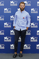 Alessandro Borghi attends a photocall for the movie 'Don't Be Bad' during the 72nd Venice Film Festival at the Palazzo Del Cinema in Venice, Italy, September 7, 2015.<br /> UPDATE IMAGES PRESS/Stephen Richie